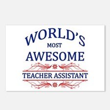 World's Most Awesome Teacher's Assistant Postcards