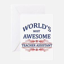 World's Most Awesome Teacher's Assistant Greeting