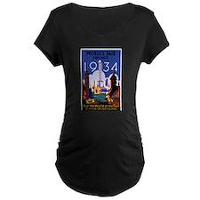 Chicago Worlds Fair 1934 Maternity T-Shirt