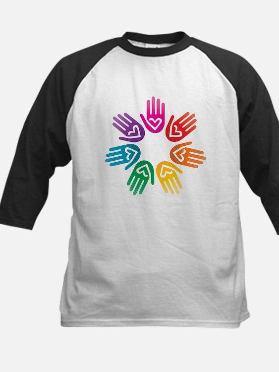 Rainbow Heart Hand Circle Baseball Jersey