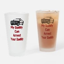 Police Officer Daddy Drinking Glass