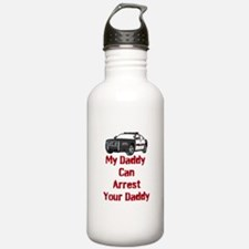 Police Officer Daddy Water Bottle
