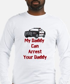 Police Officer Daddy Long Sleeve T-Shirt