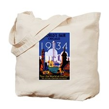 Chicago Worlds Fair 1934 Tote Bag