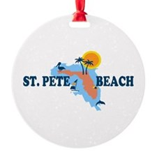 St. Pete Beach - Map Design. Ornament