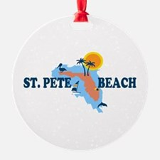St. Pete Beach - Map Design. Ornament