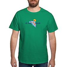 St. Pete Beach - Map Design. T-Shirt