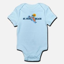 St. Pete Beach - Map Design. Infant Bodysuit