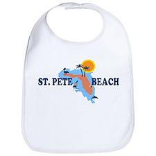 St. Pete Beach - Map Design. Bib