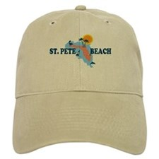 St. Pete Beach - Map Design. Baseball Cap