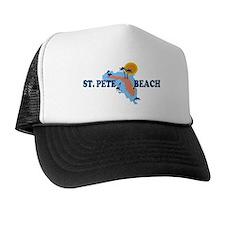 St. Pete Beach - Map Design. Trucker Hat