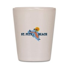 St. Pete Beach - Map Design. Shot Glass