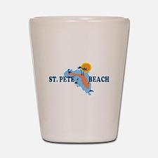 St. Pete Beach - Map Design. Shot Glass