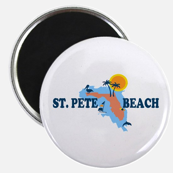 St. Pete Beach - Map Design. Magnet