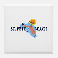 St. Pete Beach - Map Design. Tile Coaster