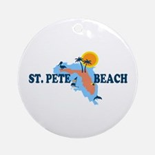 St. Pete Beach - Map Design. Ornament (Round)