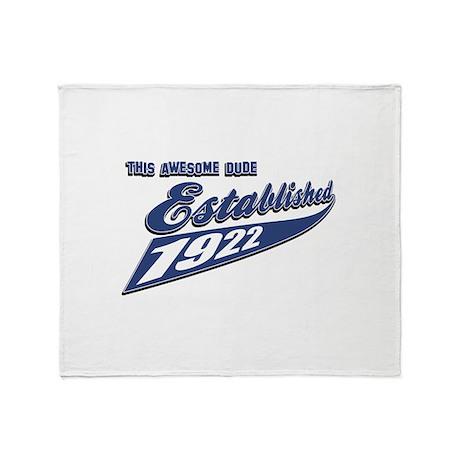 Established in 1922 Throw Blanket