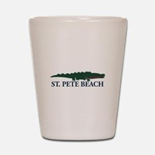 St. Pete Beach - Alligator Design. Shot Glass
