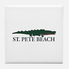 St. Pete Beach - Alligator Design. Tile Coaster