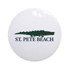 St. Pete Beach - Alligator Design. Ornament (Round