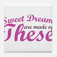 Sweet Dreams of BOOBS Tile Coaster