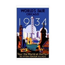 Chicago Worlds Fair 1934 Decal
