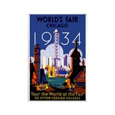 Chicago Worlds Fair 1934 Rectangle Magnet