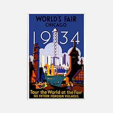 Chicago Worlds Fair 1934 Rectangle Magnet