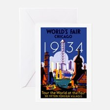 Chicago Worlds Fair 1934 Greeting Cards (Pk of 10)