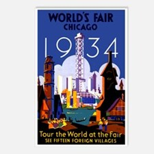 Chicago Worlds Fair 1934 Postcards (Package of 8)