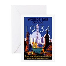 Chicago Worlds Fair 1934 Greeting Card