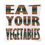 Eat Your Vegetables Woven Throw Pillow