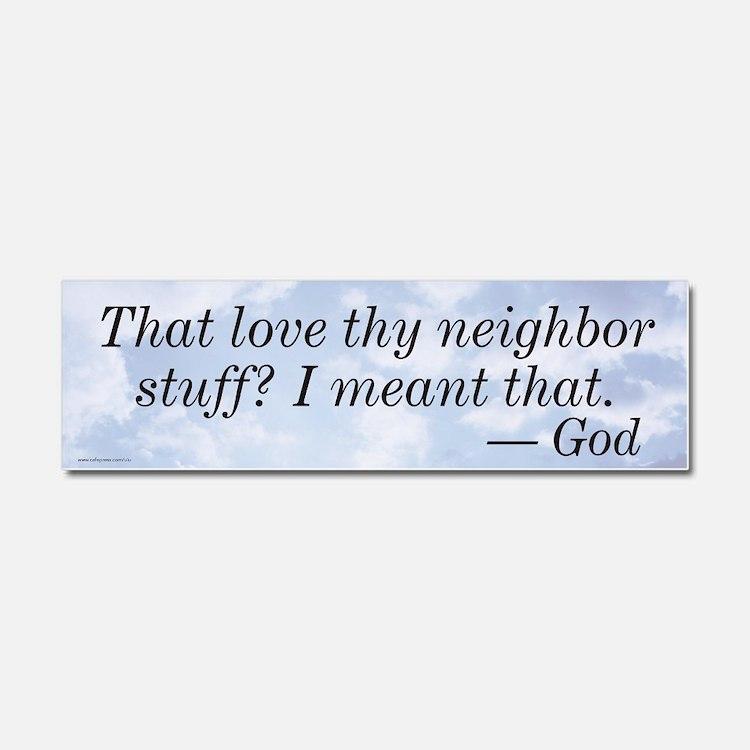 Cute The neighbors Car Magnet 10 x 3