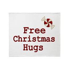 Free Christmas Hugs Throw Blanket