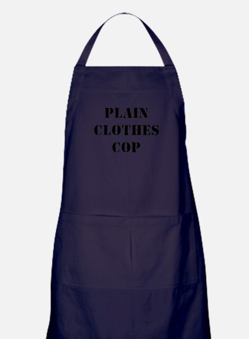 PLAIN CLOTHES COP Apron (dark)