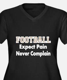 FOOTBALL Expect Pain Plus Size T-Shirt