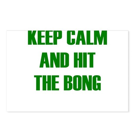 KEEP CALM AND HIT THE BONG Postcards (Package of 8