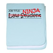 Job Ninja Law Student baby blanket