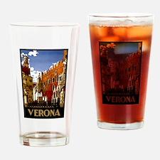 Vintage Verona Italy Travel Drinking Glass