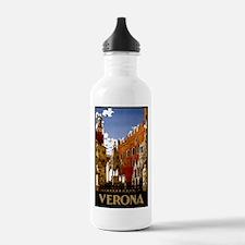 Vintage Verona Italy Travel Water Bottle