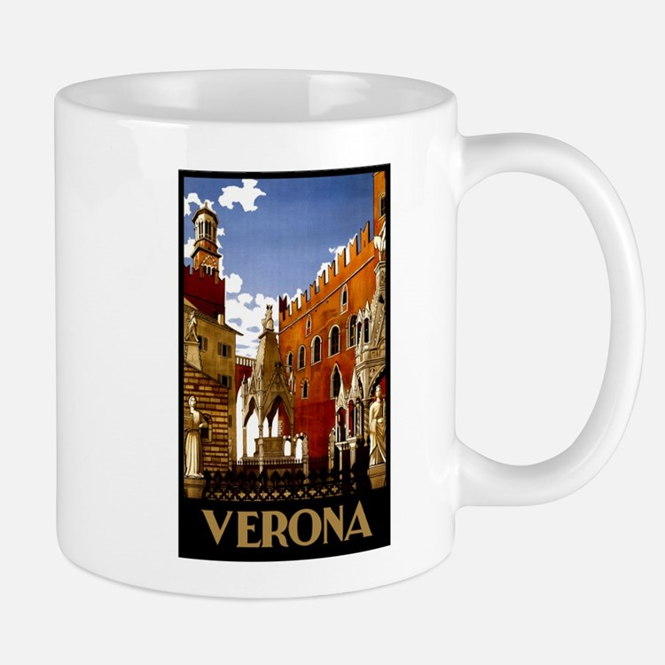 Vintage Verona Italy Travel Mug