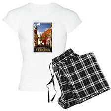 Vintage Verona Italy Travel Pajamas
