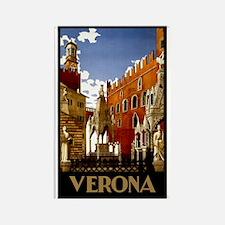 Vintage Verona Italy Travel Rectangle Magnet