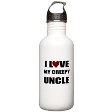 I LOVE MY CREEPY UNCLE Water Bottle