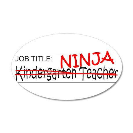 Job Ninja Kindergarten 35x21 Oval Wall Decal