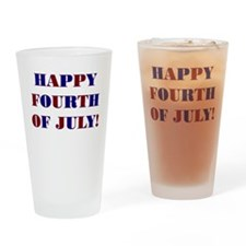 HAPPY FOURTH OF JULY Drinking Glass