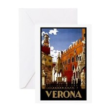 Vintage Verona Italy Travel Greeting Card