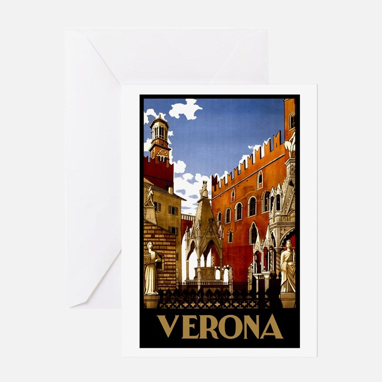 Postcard Quotes Travel: Verona Italy And Greeting Cards