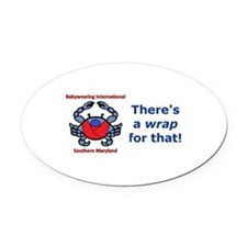 Crab Logo, Wrap for that! Oval Car Magnet
