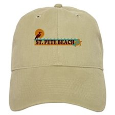 St. Pete Beach - Beach Design. Baseball Cap